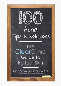 <em>100 Acne Tips & Solutions: The Clear Clinic Guide to Perfect Skin</em>