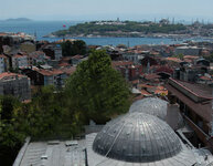 The exterior of Galatasaray overlooks the Istanbul Strait.