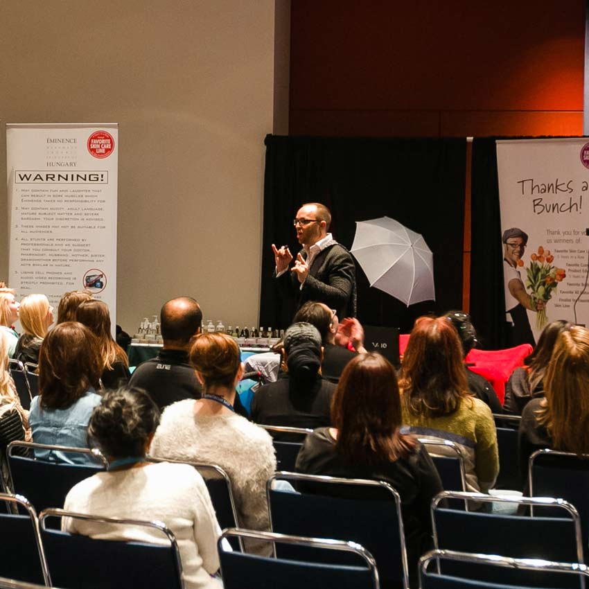 Boldijarre Koronczay delivers a Supplier Class about actives at Face & Body Midwest 2015.