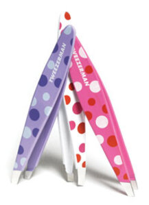Tweezerman International Hot for Dots Mini Slant Tweezer