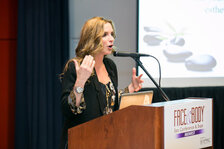 "Lori Crete of The Esthetician Mentor during her session, ""Turning Your Passion Into Profit: The Fundamentals of Building a Lucrative Skin Care Facility."""