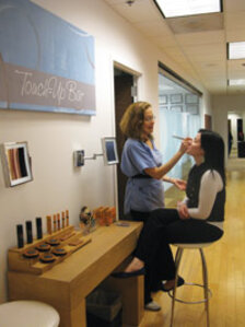 Taking the extra time to show a client highlighting and contouring makeup techniques, as well as how to conceal blemishes or accentuate the eyes, will provide them with a remarkable service.