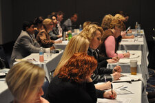 Advanced Education attendees furiously scribbled notes in order to take home the ideas they learned from the event's lineup of powerhouse industry experts.