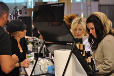 Cosmetic companies showcased new and classic offerings to interested makeup artists and spa professionals.