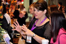 Clarisonic representatives discussed the benefits of the various brush head options available.