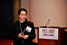 "Ivana Veljkovic, PhD, presents ""Skin Care: Fact vs. Fiction"" at the networking luncheon sponsored by PCA Skin."