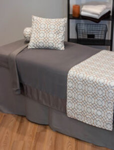 Grey Microfiber Treatment Table Linens by The Comphy Company