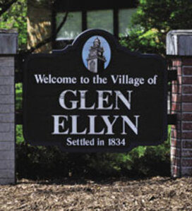 main sign into Glen Ellyn