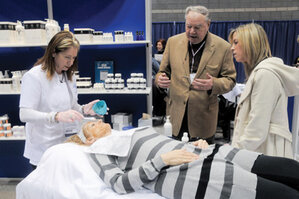 Dr. Pugliese giving a consultation during America