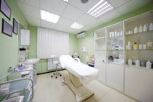 professional skin care facility treatment room