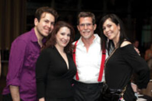 M for Makeup: From left: M. Stewart; L. Caruso; celebrated chef Rick Bayliss, one of the judges; and M. Rizzo.