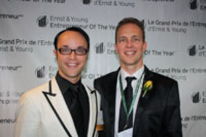 From left, B. and A. Koronczay at the awards ceremony at the Vancouver Convention Center in October.