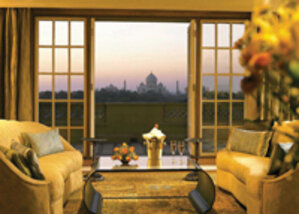 A room at the Oberoi Amarvilas in Agra, India