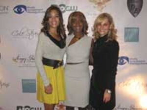From left, Sunny Hostin, emcee for the event and legal analyst for CNN and Headline News' InSession; Diane Stevens, founder of the foundation; and Lisa M. Crary, CEO and owner of Sanítas Skincare