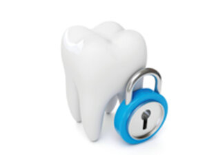 tooth with a padlock
