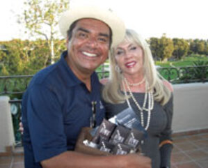 G. Lopez and GlyMed founder Christine Heathman
