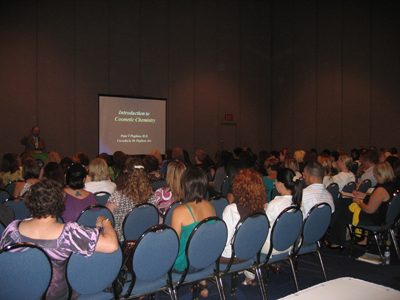Dr. Pugliese's classroom at Face & Body 2009
