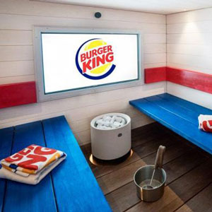 Sauna in Burger King Helsinki