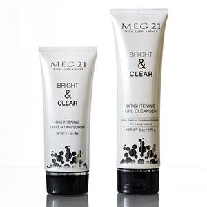 MEG 21 with Supplamine's Bright & Clear Brightening Exfoliating Scrub
