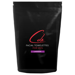 Cole Skincare for Men's Lavender Facial Towelettes