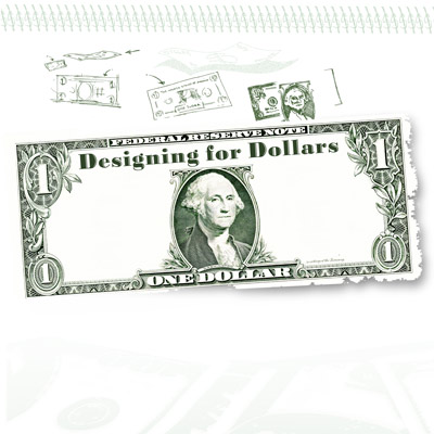 drawing of a dollar bill