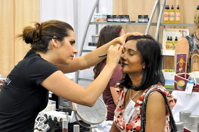 Exhibitors used their booth space as areas to educate attendees on new treatments and techniques.