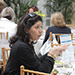 Attendees networked and compared notes at FBNC's Networking Luncheon, sponsored by GlyMed Plus Skin Care.