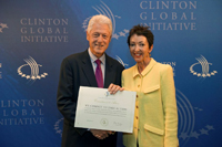Former President Bill Clinton, founder of the Clinton Global Initiative, and J. Wurwand