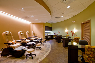 manicure and pedicure stations