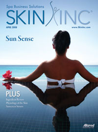 April 2008 Skin Inc. Cover