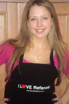 Sassy Spa Aprons, worn by model