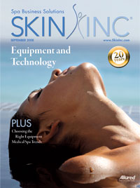 Skin Inc. September 2008 cover