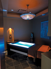 Avanti's massage room