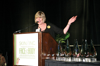Annette Delagrange, Skin Inc. publisher, at Face & Body 2008