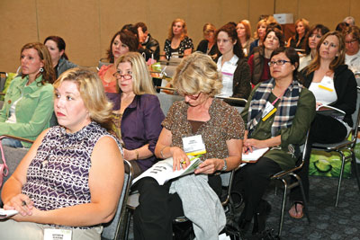 classroom full of attendees at Face & Body 2008