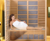 Model relaxing in Sunlight Sauna