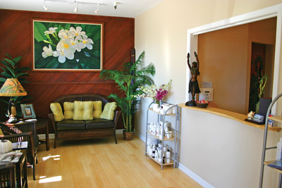 Aloha Skin Spa reception area