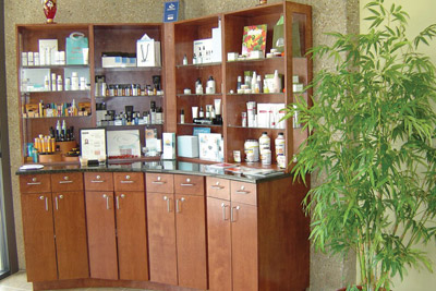 Euro Med Spa's retail area