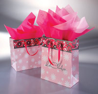 Action Bag Company Pink Floral Swirl Bags