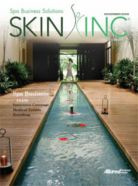 Skin Inc. magazine's November 2009 cover