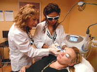 Fractional laser wrinkle reduction