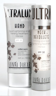 Sonya Dakar Hand Spot Lightener & Firmer with SPF 30 and Neck & Décolleté Firmer and Spot Lightener with SPF 30