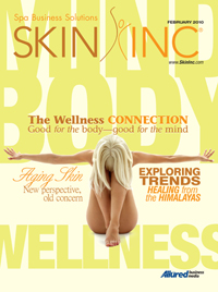 Skin Inc. magazine February 2010 cover