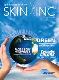 March 2010 Skin Inc. cover