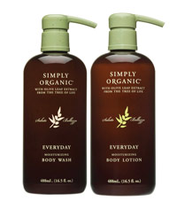 Simply Organic's Everyday Moisturizing Body Wash and Lotion