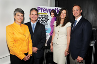 From left, Prevention editor in chief Diane Salvatore; David Bank, MD; Prevention senior vice president/publisher, Mary Murcko; and HydroPeptide president Steve Peck.