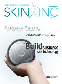 Skin Inc. January 2011 cover