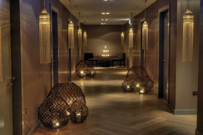 The Spa at Blythswood Square in Glasgow, Scotland, uses hand-blended formulations of native ingredients in its treatments.
