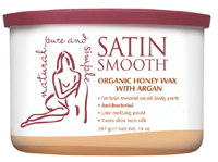 Satin Smooth Organic Honey Wax with Argan