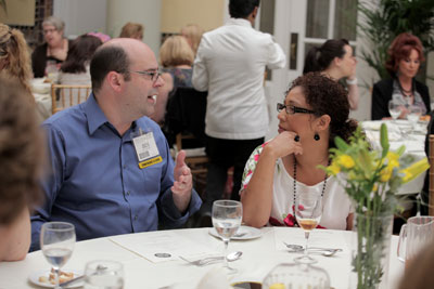 Attendees shared ideas and business tips at last year's networking lunch.